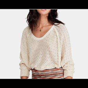 Free people cream lightweight sweater. Size small